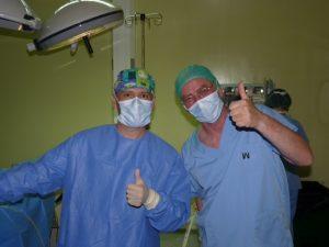 Dr. Díaz Caparrós y David Spiggle
