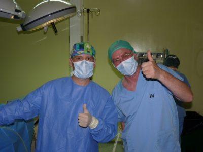 Dr. Díaz Caparrós y David Sppiegle